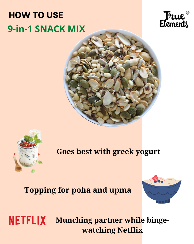 Roasted 9 in 1 Snack Mix - Protein Rich