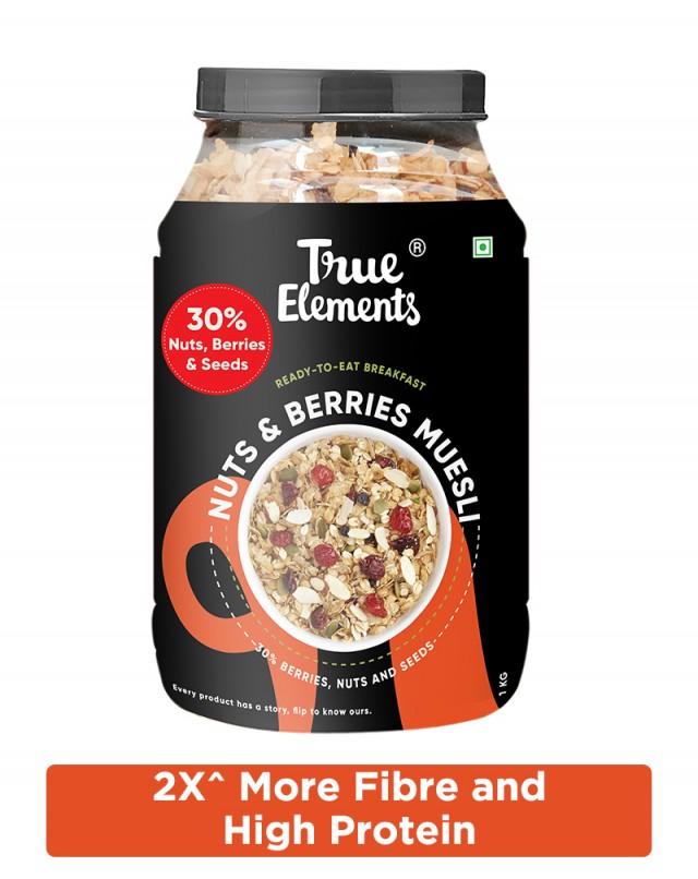 Crunchy Nuts And Berries Muesli - Fibre Rich
