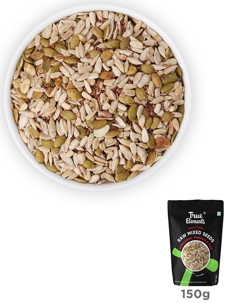 Raw Sunflower Pumpkin & Flax Seeds - Fibre Rich