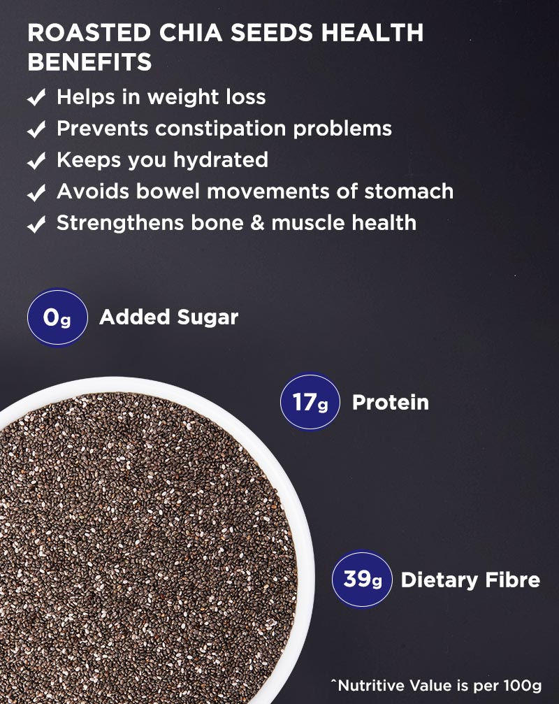 Roasted Chia Seeds - Calcium Rich
