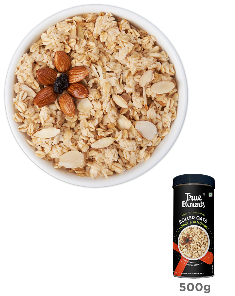 Rolled Oats with Honey and Almonds