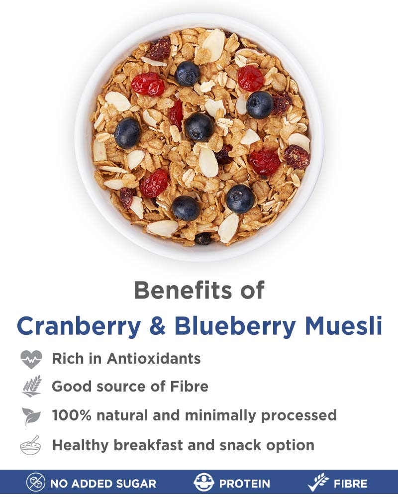 Cranberry Blueberry Muesli and Honey