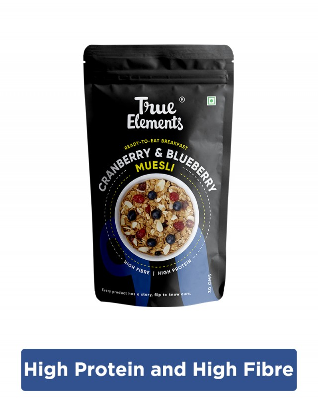 Cranberry & Blueberry Muesli 30gm - Fibre Rich