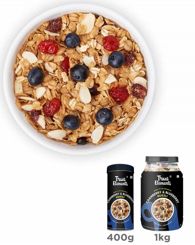 Cranberry And Blueberry Muesli - Fibre Rich
