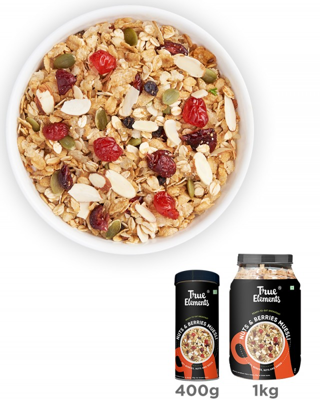 Crunchy Nuts And Berries Muesli - Fibre Rich
