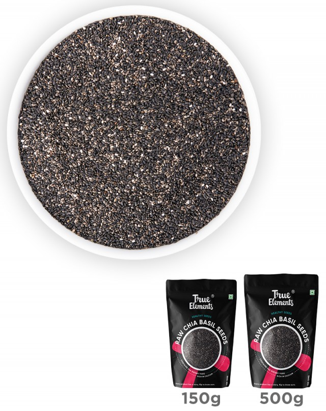 Raw Chia Basil Seeds - Iron Rich