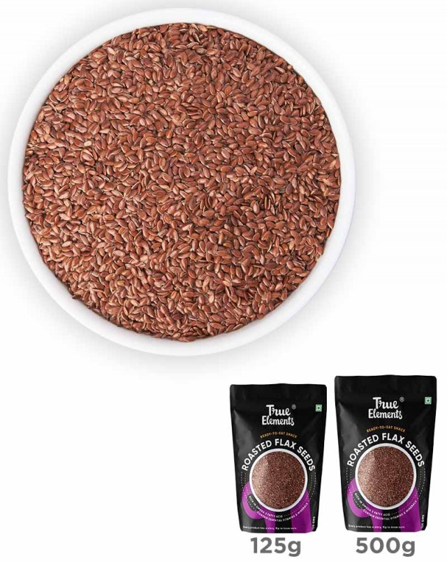 Roasted Flax Seeds - Omega 3 fats Rich