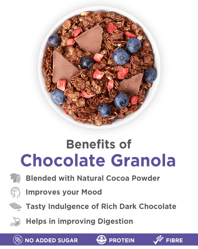 Chocolate Granola with 100% Dark Chocolate