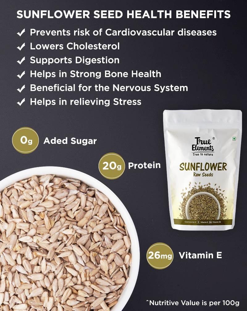 Raw Sunflower Seeds - Improves Skin Health