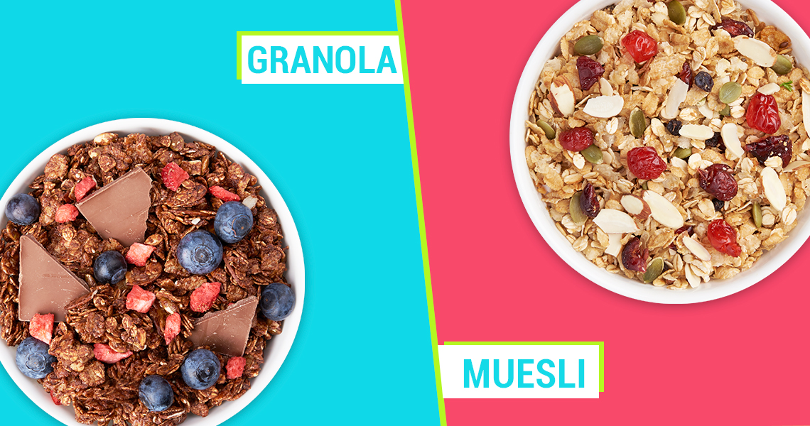 Difference between Granola and Muesli
