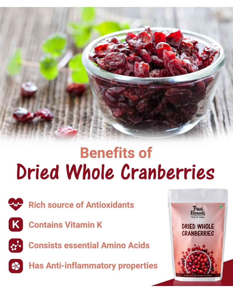 Dried Whole Cranberries 30gm - Pack of 3