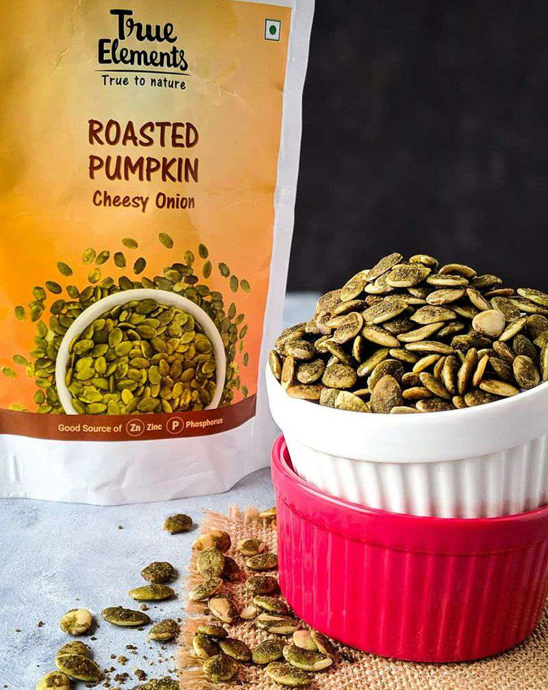 Roasted Pumpkin Seeds Cheesy Onion