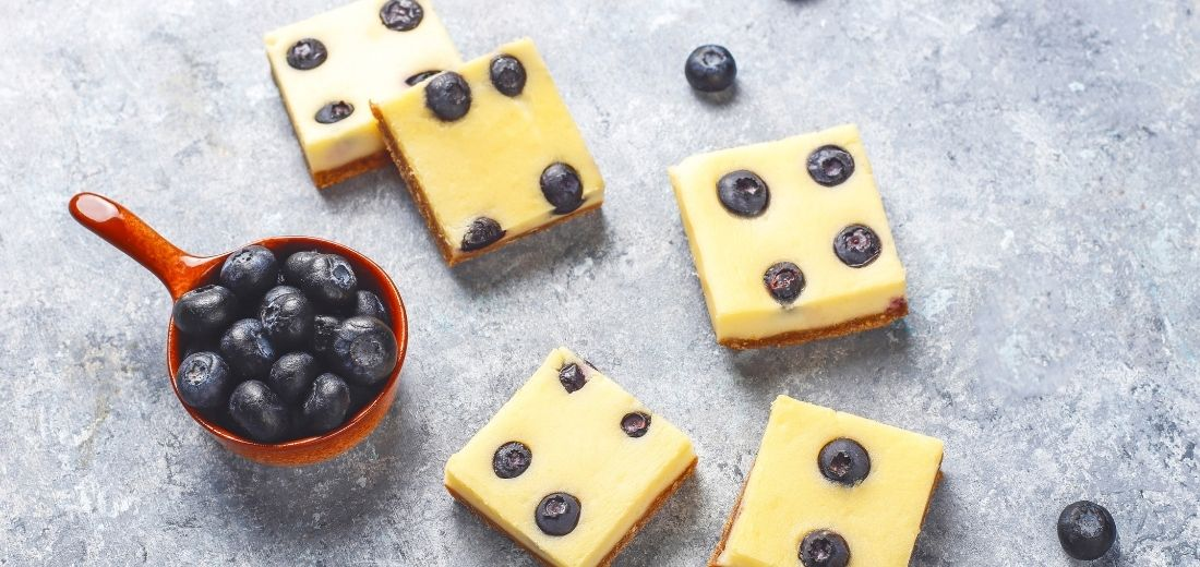Chia Blueberry Bars