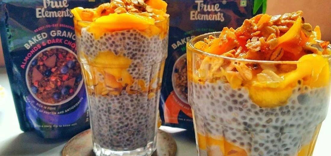 Mango chia shake