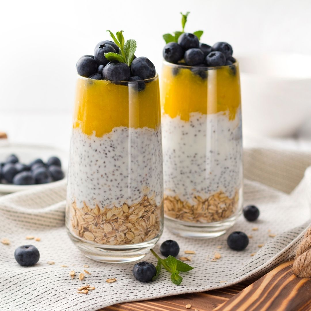 Mango Blueberry Parfait