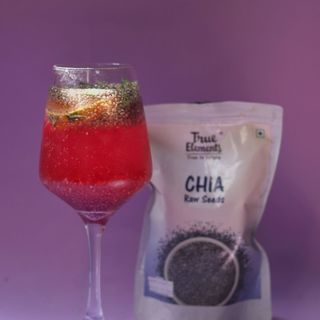 Rose And Chia Cooler