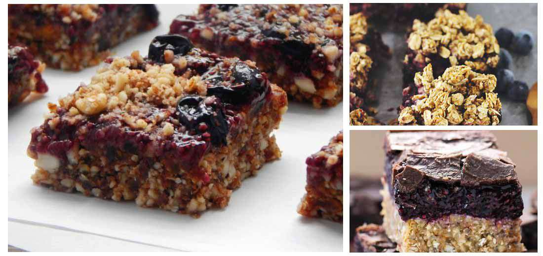 Chia Blueberry Bars